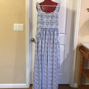Vineyard Vines Blue and White Striped Maxi Dress